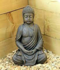 large 39cm sitting buddha stone outoor