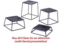 Steel Stands For Display Display Risers Black Finished Steel 10000100100 Height 53