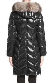 moncler womens albizia down puffer coat with genuine fox fur trim 1