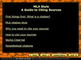 how to cite your sources ppt mla style a guide to citing sources powerpoint presentation