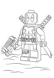 Small Picture Lego Deadpool coloring page Free Printable Coloring Pages