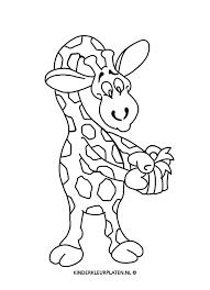 Kleurplaat Giraffe Kleurplaat Dieren