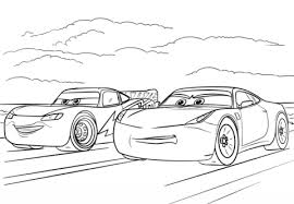 Small Picture McQueen and Ramirez from Cars 3 coloring page Free Printable
