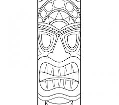 Small Picture tiki coloring pages 100 images hawaiian tiki mask coloring