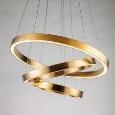 post modern titanium circular ring chandelier cord adjule 1 light 3 light polished brass saturn