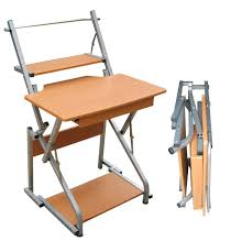 image of small folding computer desk