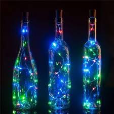 3 pack 3 ft 20 super bright rgb led battery operated wine bottle lights with