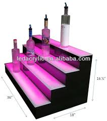 Bar Bottle Display Stand A Lighted Liquor Bottle Display Made Of Glossyblack Flame 92