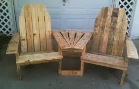 wood pallet projects pallirondack settee do it