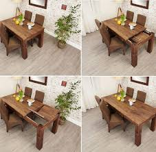sworth dark wood extending dining table and 4 chairs view larger