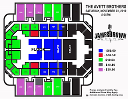 James Brown Seating Chart James Brown Arena Seating Diagram Technical Diagrams