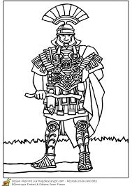 Coloriage Centurion Romain En Armure