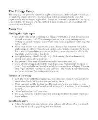 Amazing College Admission Essay Examples