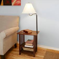 Side Table With Light Attached Floor Lamp With Table Attached Canada Lamps Contemporary