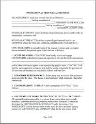 Printable Service Agreement Template Professional Contract Science ...