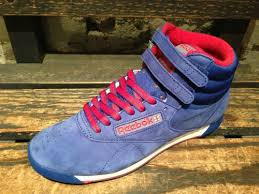 reebok high tops womens. new reebok women freestyle classic hi top shoes blue suede trainers j97429 | trainers, and high tops womens