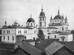 История Зачатьевский монастырь Реферат Учил Нет  К началу ХХ века монастырь представлял собой величественный ансамбль с четырьмя храмами и одиннадцатью каменными строениями
