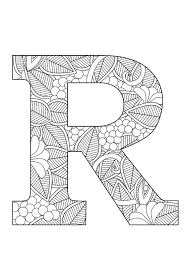 Letter R Floral Creative Inspirations Lettering Coloring Pages