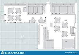 Pub Design Plan Small Cafe Restaurant Beer Pub Top View Plans Vector