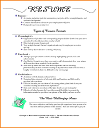 Different Resume Formats Resume Types 11 Resume Types Different