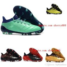 2019 2018 outdoor mens womens soccer cleats x 17 1 leather fg soccer shoes boys kids youth x 17 purechaos fg mens crampons de football boots from