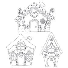 Small Picture Gingerbread House Coloring Pages Printable Coloring Activity