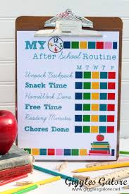 Back To School Morning Routine Checklist For Kids
