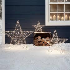 3er Set Led Sterne Weihnachtsdeko Außen Lights4funde