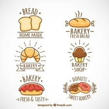 slice of bread template. Wonderful Template Hand Drawn Bakery Logotypes To Slice Of Bread Template B