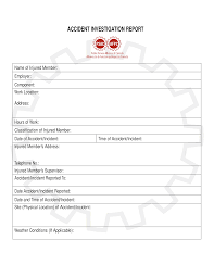 Accident Investigation Report Templates At