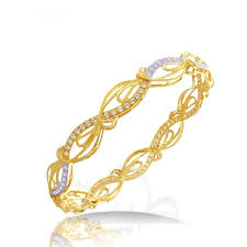Dubai Gold Designs Online Bangle A436 Bangles 21k Jewellery Gold Collection