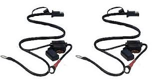 4x quick connect battery tender wire harness snap cord ring 2 x quick connect battery tender harness snap cord ring charger terminal wire