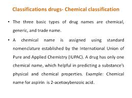 Drug Classification Chart Classy Drug Classification