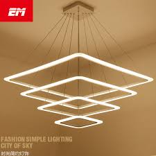 hanging lighting fixtures for home. Led Pendant Lights Modern Acrylic Square Hanging Lamp AC90-260V Home Lighting Indoor Kitchen Fixtures For R