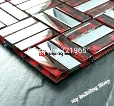 red glass tile mosaic tile sheets red glass mosaic tile brick stainless steel mosaic tile glass