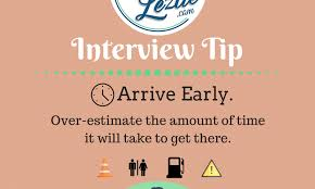 Interview Tip Interview Tip Arrive Early Resume Lezlie