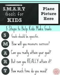 Place Setting Template Interesting New Years Goal Setting For Kids The SMART Way Church Pinterest
