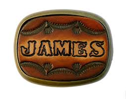 com custom tooled leather belt buckle made to order names or initials up to 6 letters handmade