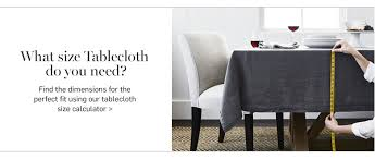 what size tablecloth do you need