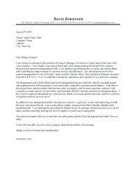 General Cover Letter Examples For Resume Assistant General Manager
