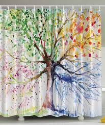 cool shower curtains for kids. Beautiful Shower Watercolor Tree Curtain Design In Cool Shower Curtains For Kids N