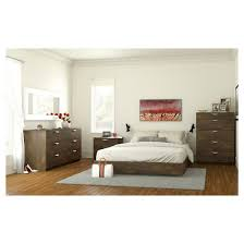 Alibi Queen Size Platform Bed Walnut Nexera Tar
