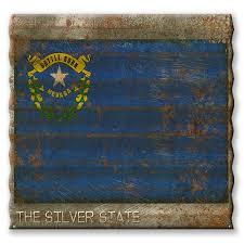 nevada state flag corrugated metal sign