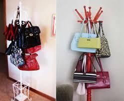 Diy Repurposed Coat Rack Handbag Storage Design