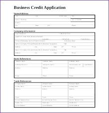 Company Credit Application Template Company Credit Application