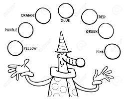 Vettoriale Bianco E Nero Fumetto Illustrazione Dei Colori Primari