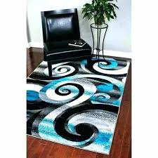 turquoise and gray area rug grey rugs modern abstract white black teal ikea c tur