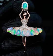 2019 opal necklace pendant 925 sterling silver natural real opal 0 25ct gems fine jewelry r style b18110508 from wdrf 202 66 dhgate com