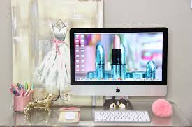 incredible pink office desk beautiful home. Home Office : Miss Liz Heart Beauty Roomoffice Update New Desk Intended For Girly Incredible Pink Beautiful