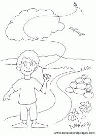 Small Picture Best Photos Of Kite Flying Coloring Pages Kids Flying Kites